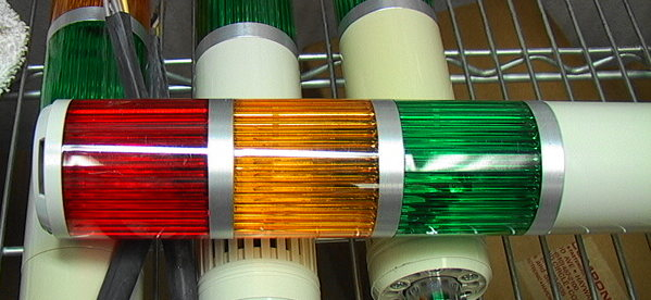 Signal Tower Red, Green, Amber Status Light Auto Machin