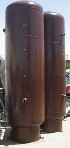 Used 500 Gallon Vertical Compressed Air Receiver Tank