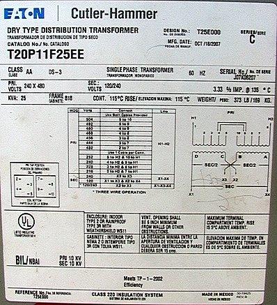 25 KVA    1      phase       240   480120   240       Transformer    Eaton CutlerHammer  voltage taps   eBay