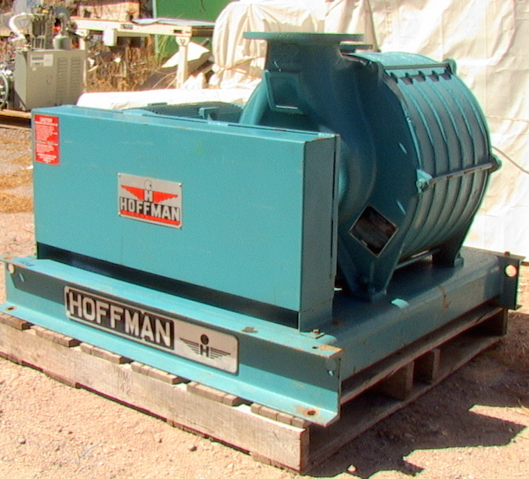 Hoffman Centrifugal Blower : Hp hoffman multistage cast centrifugal blower exhauster