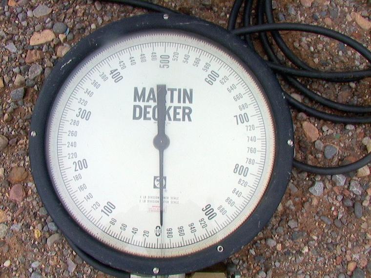 Marten Decker Load Indicator : Martin decker hydraulic crane scale sd
