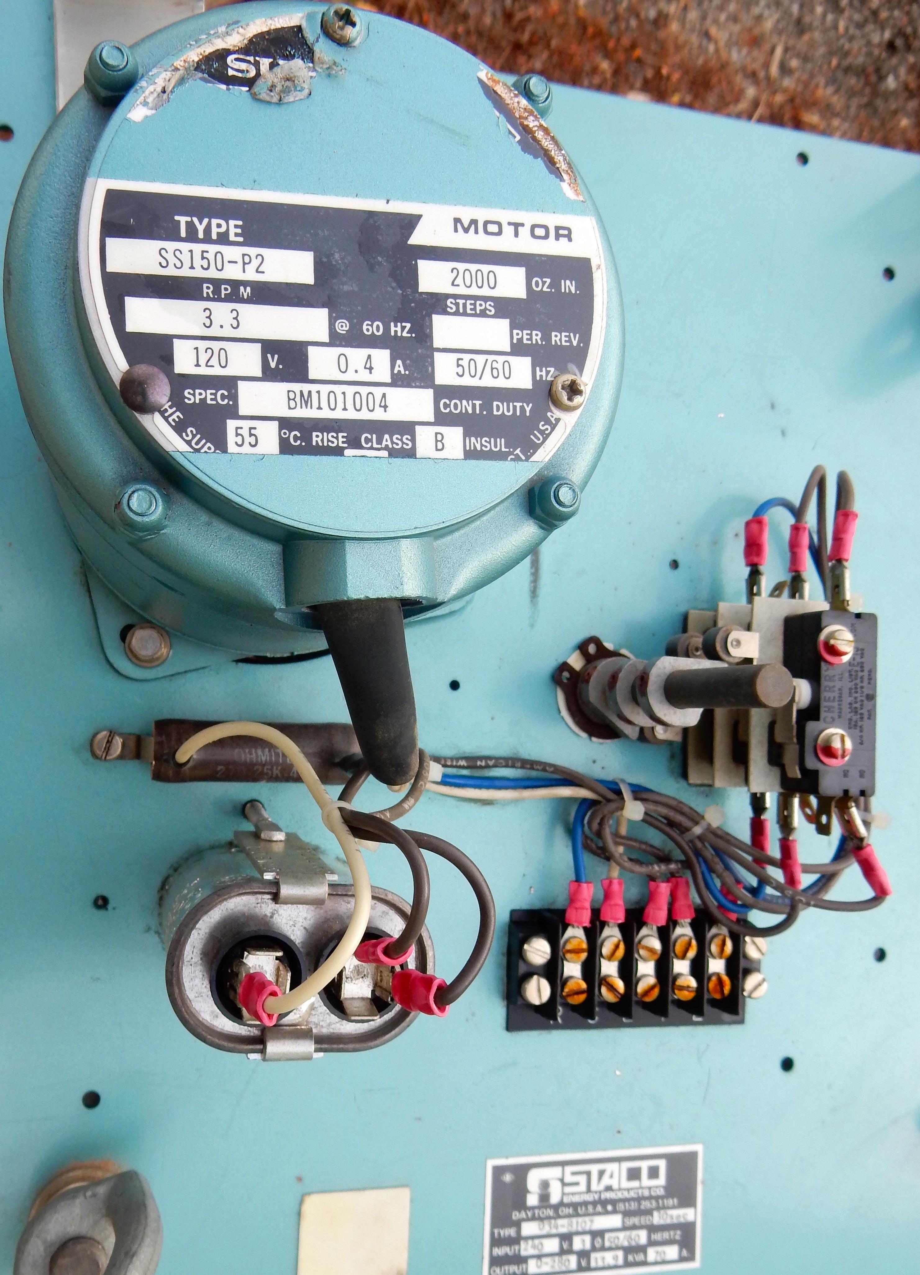 33.9 KVA 0-280 volt 70 amp 30 second STACO 4-stack Variac ...